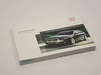 amazon com audi a3 8p sportback handbook owners manual new automotive rh amazon com