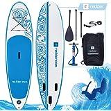 """REDDER Tablas Paddle Surf Hinchables VORTEX 8'8"""" & 10' All Round Tabla Stand Up Paddle - KIT Con Bravo SUP3 Inflador, Pala Ajustable 3 Piezas, Mochila de Viaje, Correa Elástico Flexible, Kit De Reparación"""