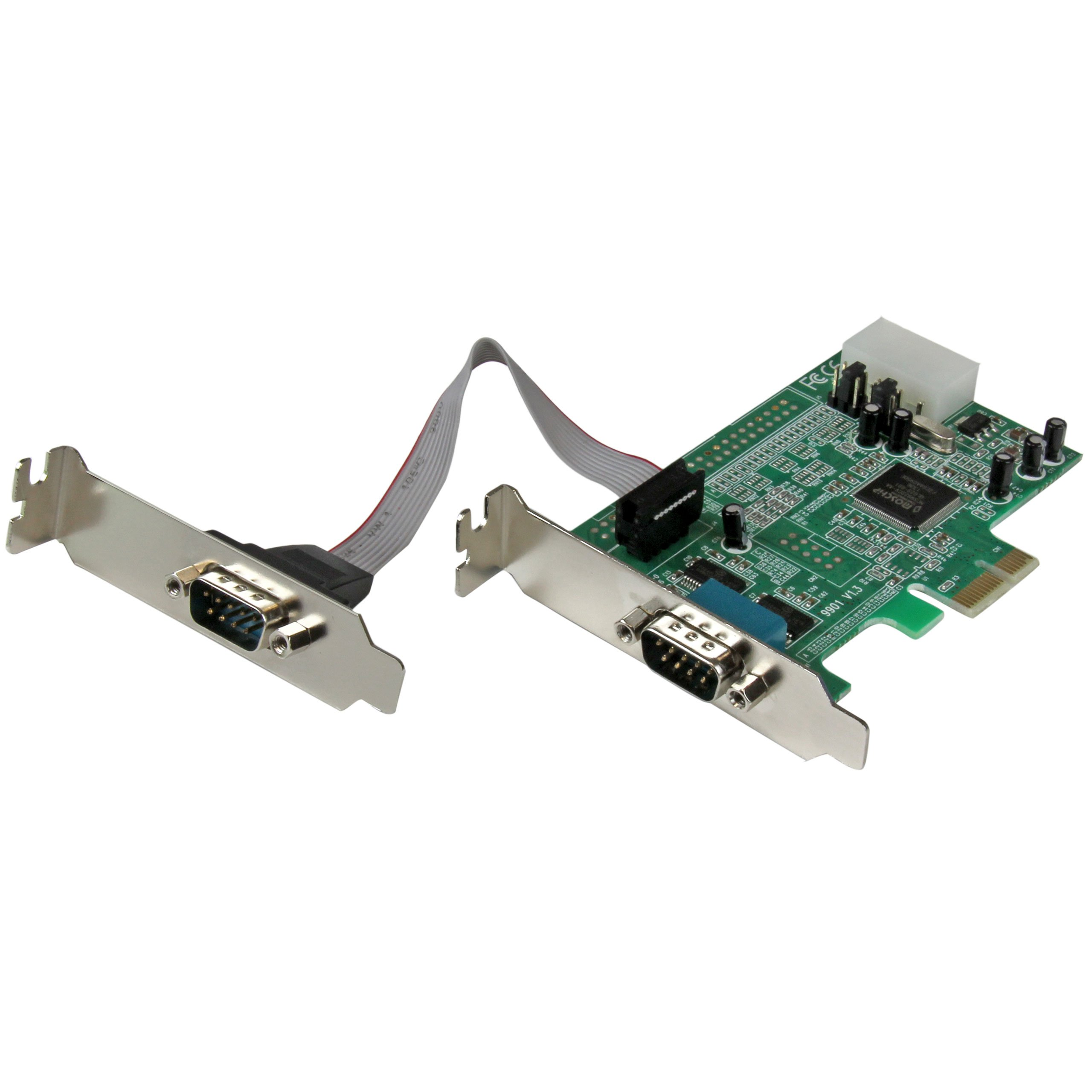 StarTech.com 2 Port Low Profile Native RS232 PCI Express Serial Card with 16550 UART - PCIe RS232 - PCI-E Serial Card (PEX2S553LP) by StarTech