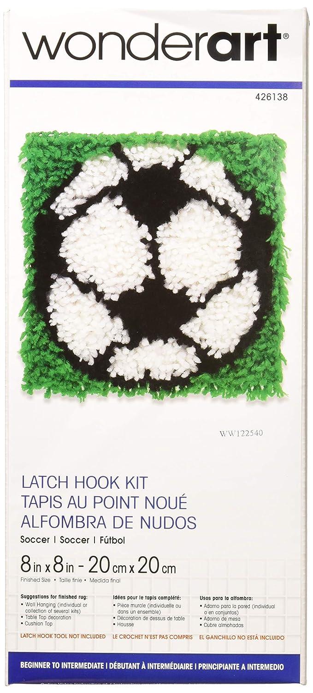 Wonderart Football Latch Hook Kit 8 X 8