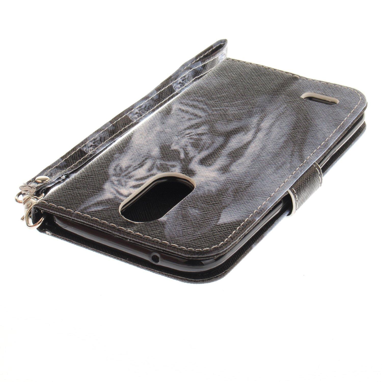 LG K7//LG K8 Leder H/ülle Magnetverschluss Kartenfach Ledertasche mit Schutzh/ülle f/ür LG K7//LG K8 Magnolie Standfunktion Cozy Hut LG K7//LG K8 H/ülle