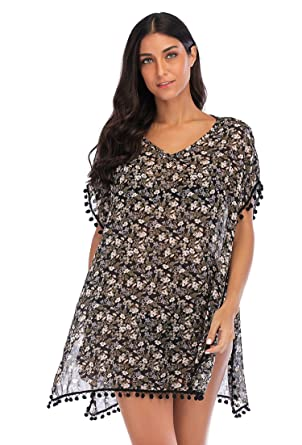 1d47c6f568 Lelinta Women Beach Cover Up Bikini Crochet Knitted Tassel Tie Beachwear  Summer Swimsuit Cover Up