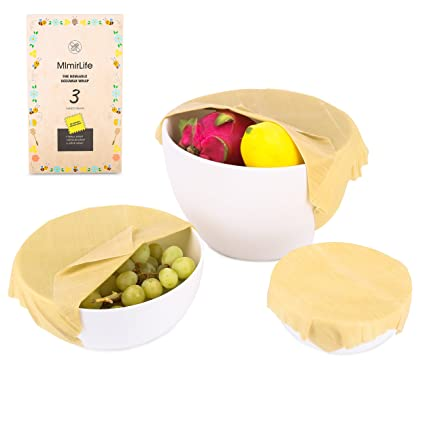 Organic Reusable Food WrapMImirLife Healthy Natural Food Storage Beeswax Wraps GOTS certified Organic  sc 1 st  Amazon.com & Amazon.com: Organic Reusable Food Wrap MImirLife Healthy Natural ...