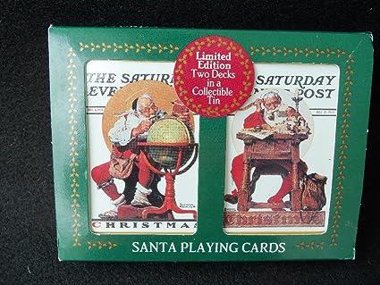 Amazon.com: Papá Noel de Norman Rockwell Juego de cartas ...