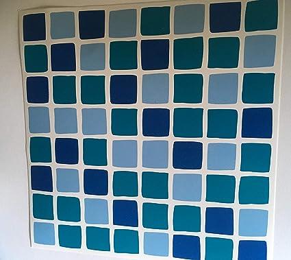 YTAT IED Lot de 10 Bleu océan Aqua transferts de mosaïque Stickers  Transformer Rapidement Votre Salle de Bain ou Murale de Cuisine, Carreaux,  ...