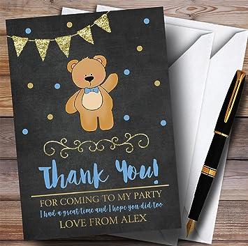 Tiza color dorado oso de los niños fiesta tarjetas de agradecimiento ...