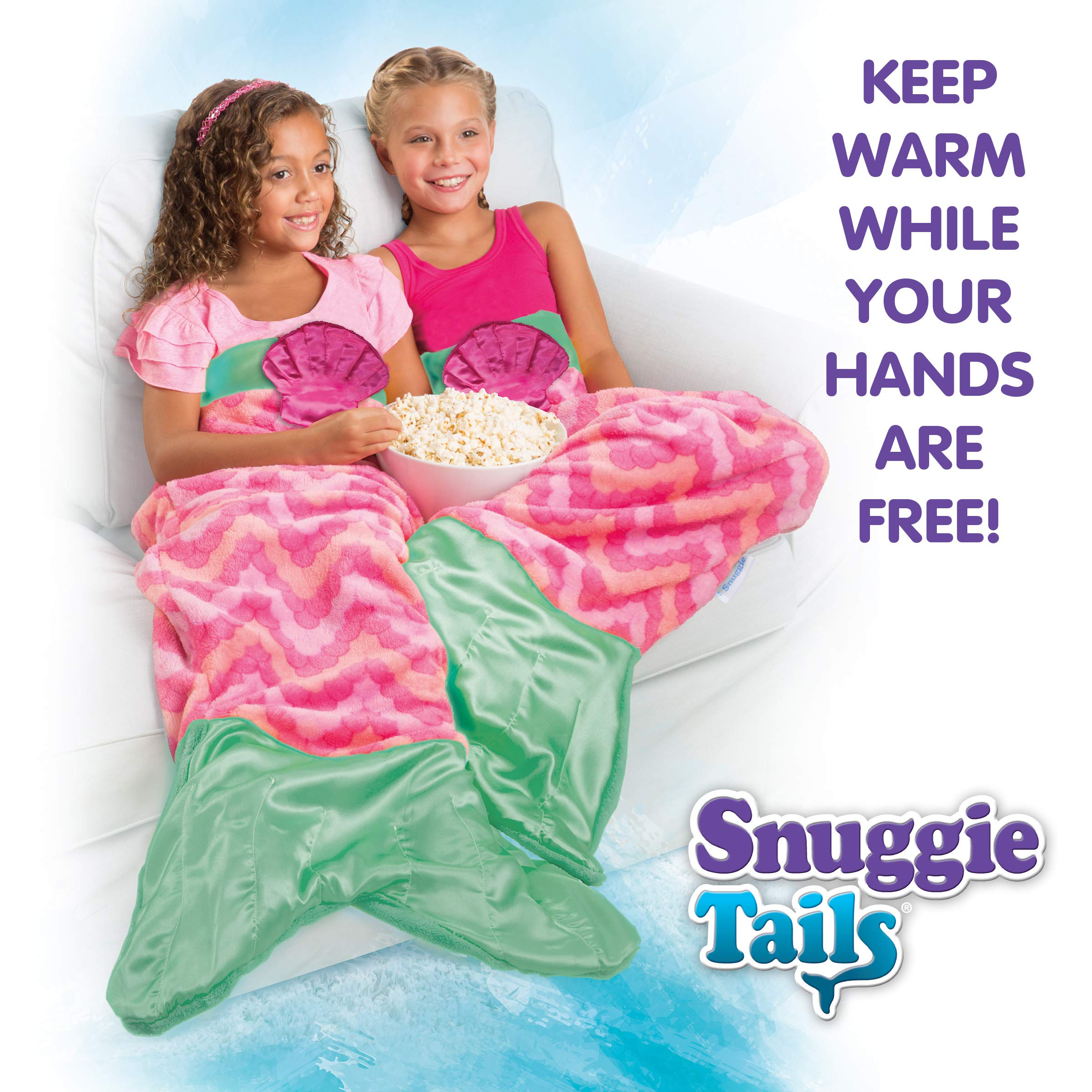 Snuggie Tails Allstar Innovations Mermaid Blanket for Kids (Pink), As Seen on TV by Snuggie Tails (Image #4)