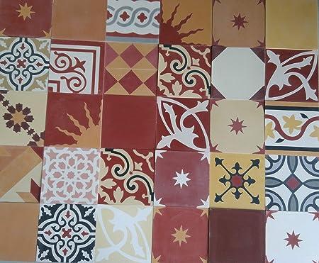 1 M Multicolore Patchwork Rouge Jaune Multicolore 904 Carrelage Patchwork Ciment Carrelage Multicolore Rouge Amazon Fr Bricolage