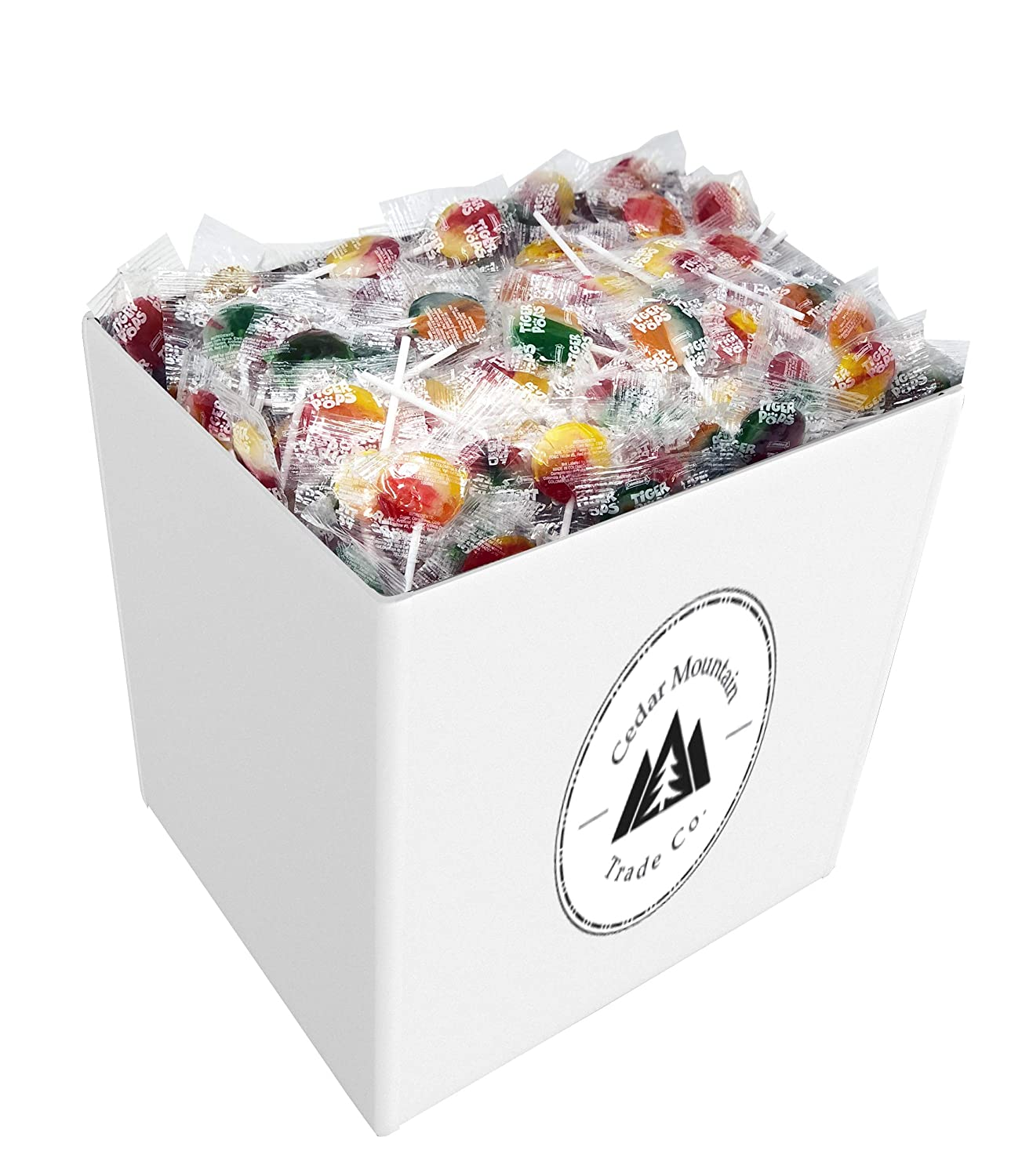 Bulk Individually Wrapped Lollipops - 5 lb. Assorted Flavors of Mixed Fruit Suckers - Bulk Candy, Fine Swirl Lollipop Candy for Adults & Kids in Businesses & Schools