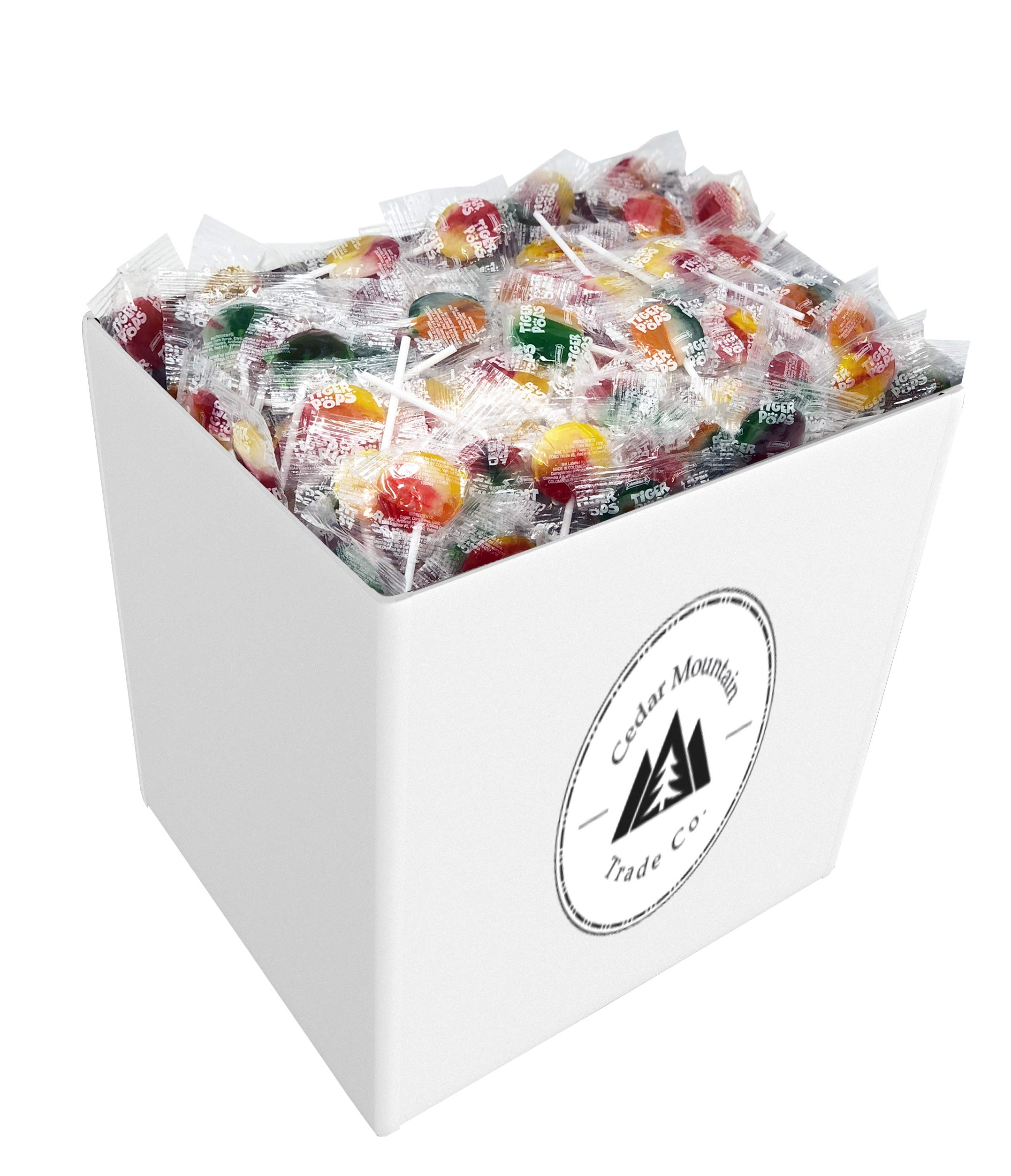 Bulk Lollipops - 5lbs of Assorted Flavors of Mixed Fruit Suckers - Bulk Candy, Great for Office, Bank, School, Kids, and Adults Who Want the Finest Swirl Lollipop Candy by Cedar Mountain Trade Co.