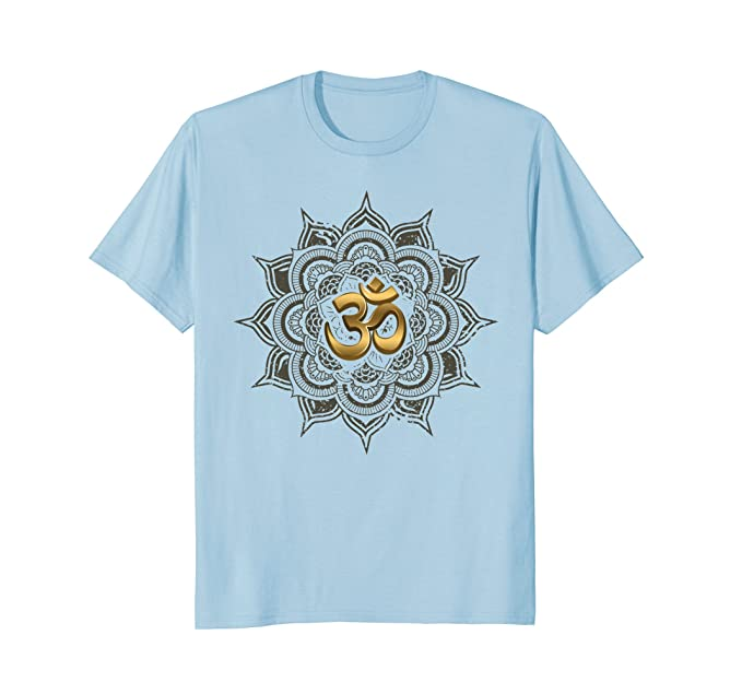 097790477 Amazon.com: Lotus with Om Symbol Yoga T-Shirt: Clothing