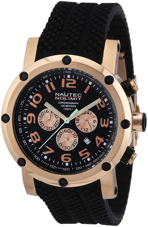 Nautec No Limit Herren-Armbanduhr XL Firth Chronograph Quarz Kautschuk FI QZ2-RBRGRGBK