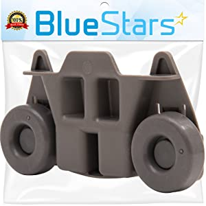 Ultra Durable W10195416 Lower Dishwasher Wheel Replacement by Blue Stars - Exact Fit for Whirlpool & Kenmore Dish Rack - Replaces AP5983730, W10195416V, PS11722152