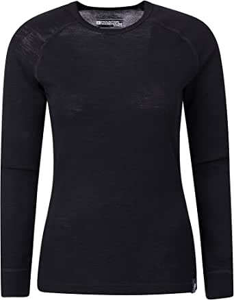 Mountain Warehouse Top térmico Interior de Lana Merina para Mujer - Camiseta Ligera para Mujer, Transpirable, Antibacteriana