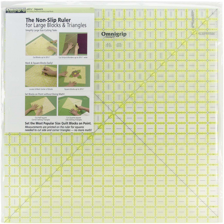 Dritz Omnigrip Non-Slip Diamond Free Quilter\'s Ruler-20-1/2 x 20-1/2 inch RN205