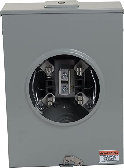Square D By Schneider Electric 1004159a 200a Overhead Underground Meter Socket With Horn Bypass Circuit Breaker Panel Safety Switches Amazon Com