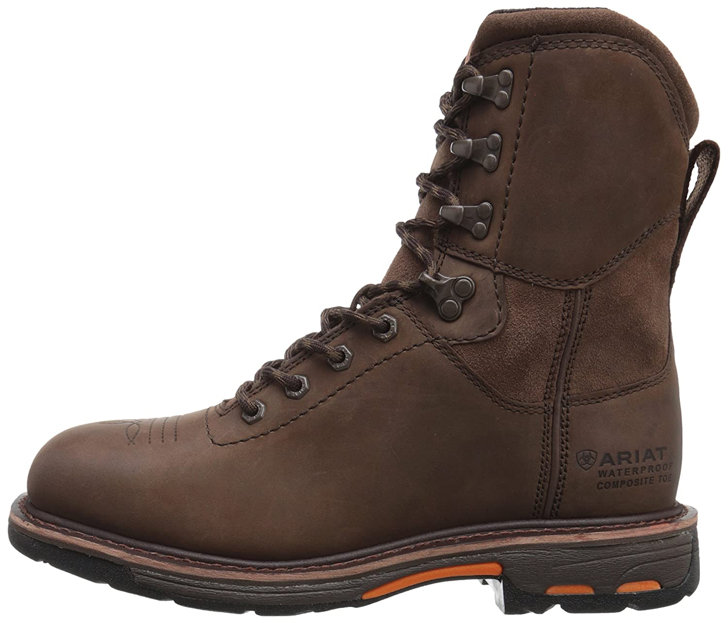 Ariat Mens Workhog 8 Wide Square Toe H20 Work Boot