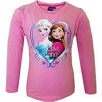 Disney Oficial Frozen Elsa para Hermanas Anna Ropa de Descanso para niñas Tops de Manga Larga para T-Camiseta de Manga…
