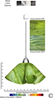 product image for Jezebel Radiance JRNI-LP16-GRA-TRNI Nickel Lily Track Light, Large, Grass Green
