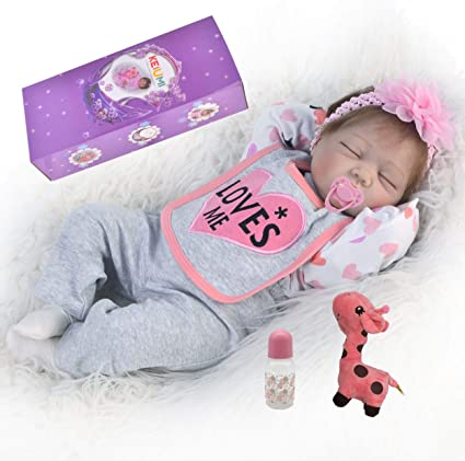 Lifelike Silicone Reborn Baby Doll Sleeping Newborn Infant Girl Birthday Gifts