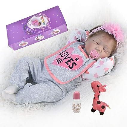 Amazon.com: KEIUMI Muñecas de bebé renacido durmiendo niñas ...