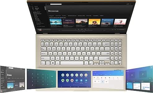 "ASUS VivoBook S15 S532 Thin & Light Laptop, 15.6"" FHD, Intel Core i5-10210U CPU, 8GB DDR4 RAM, 512GB PCIe SSD, Windows 10 Home, IR Camera, S532FA-DH55-GN, Moss Green-Metal"
