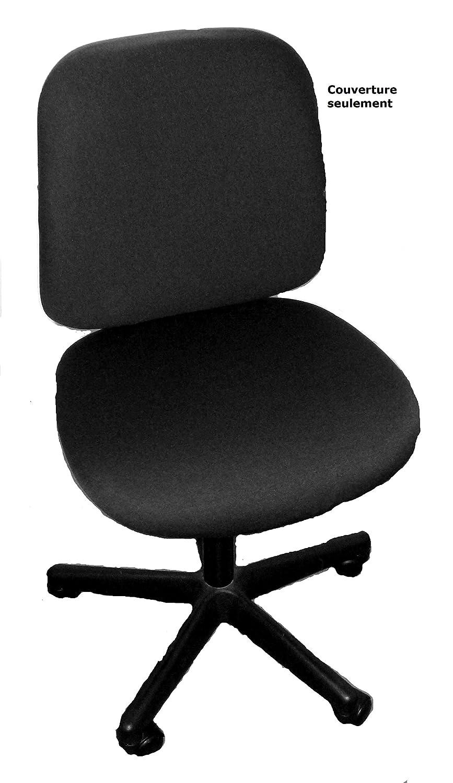 pivotante COUVERTURE pour chaise de bureau tournante HOUSSE SEULEMENT :si/ège 45cm profond x 47cm large; dos 43cm large x 52cm haut NOIR HOUSSE
