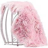 Chanasya Soft Mangolian Faux Fur Non-Toxic Hypoallergenic Machine Washable Australian Sheepskin Chair Sofa Couch Cover Solid Shaggy Area Rug Decorative Nursery Rug - Pink 2 ft x 3 ft