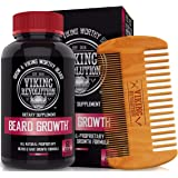 Viking Revolution Men's Beard Growth Vitamin Supplement Tablets - Potent Pills for Maximum Facial Hair Growth for Men…