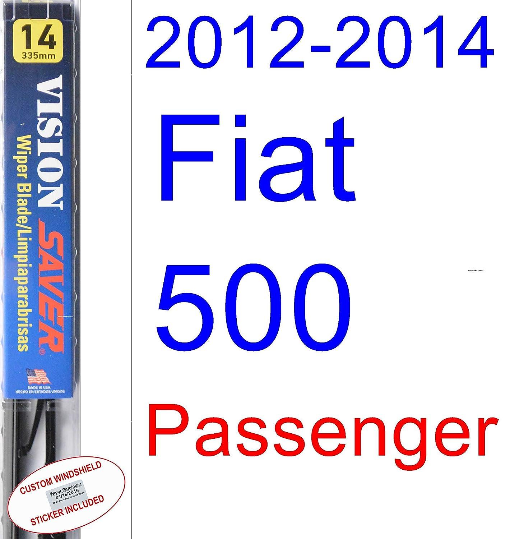 Amazon.com: 2012-2014 Fiat 500 Wiper Blade (Rear) (Saver Automotive Products-Vision Saver) (2013): Automotive