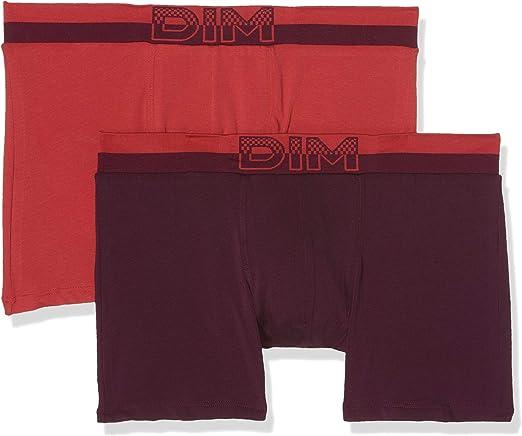 TALLA 6 EU. Dim Soft Touch Pop Alg. Cintura Sin Costuras Boxer (Pack de 2) para Hombre