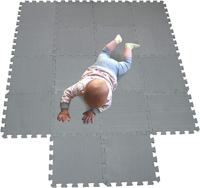 MQIAOHAM Puzzle mats Play Baby Foam Playing mat for Babies Sensory Children eva Toddler Jigsaw Toys Interlocking Puzzles for 3 Year Old jigsaws Baby Floor Outdoor Cushion Gym Flooring Grey 112