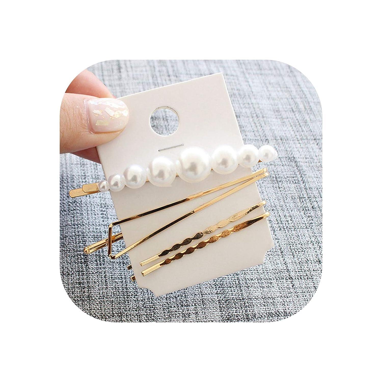 3PCS Fashion Pearl Hair Clip Hairband Comb Bobby Pin Barrette Hairpin Headdress