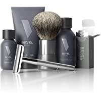 Shaving Kit for Men by Bevel - Starter Shave Kit, Includes Safety Razor, Shaving Brush, Shave Creams, Oil, Balm and 20…