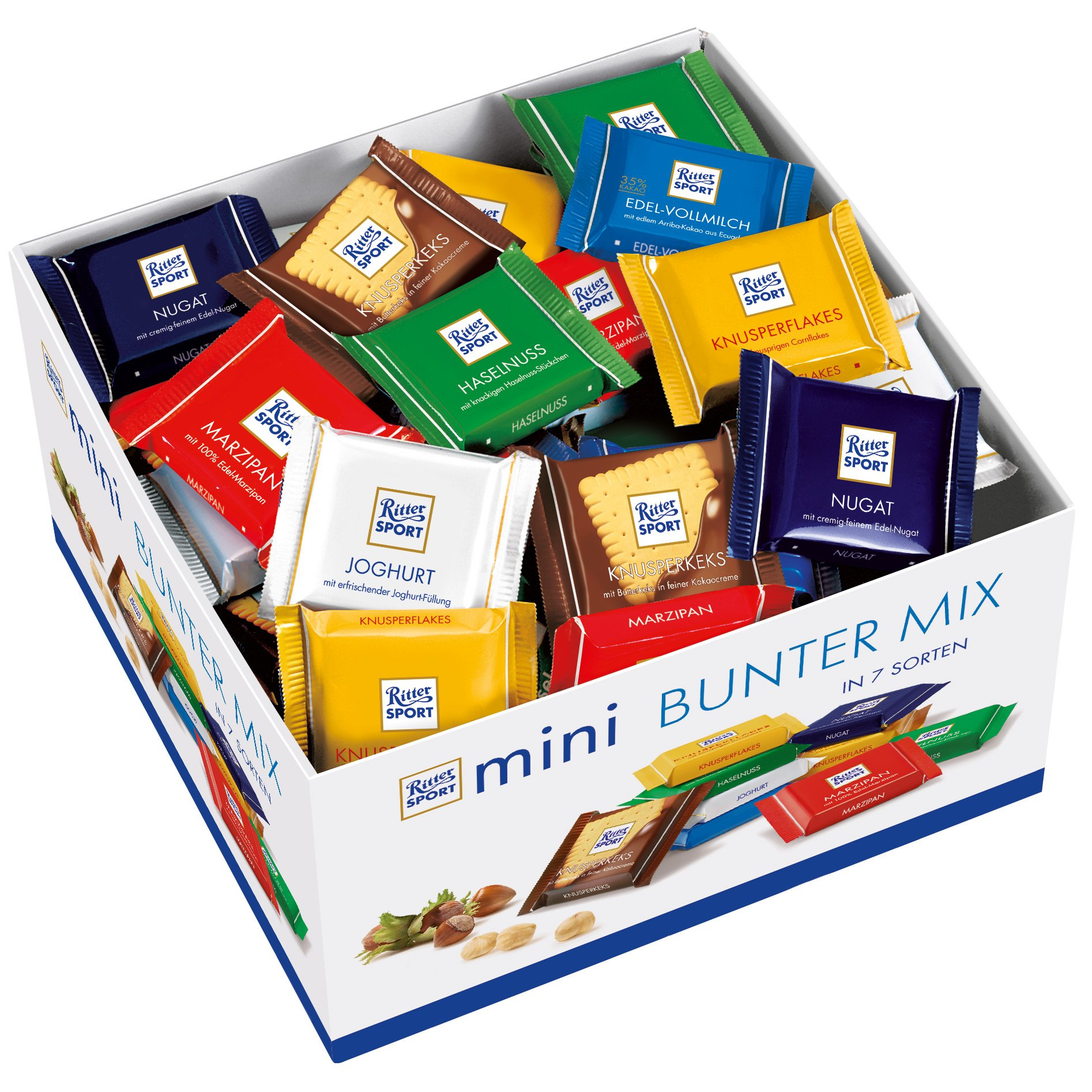RITTER SPORT: Individual Mini Bars Display: 84 Count by Ritter Sport