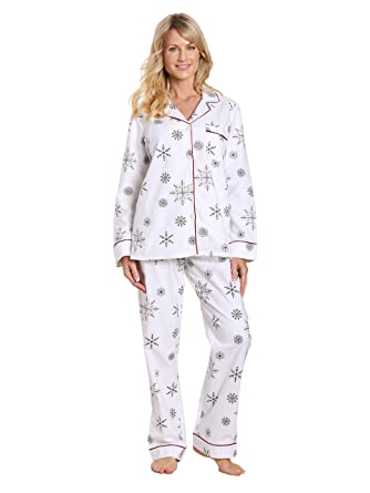d79dd2984c Noble Mount Womens Premium 100% Cotton Flannel Pajama Sleepwear Set at  Amazon Women s Clothing store
