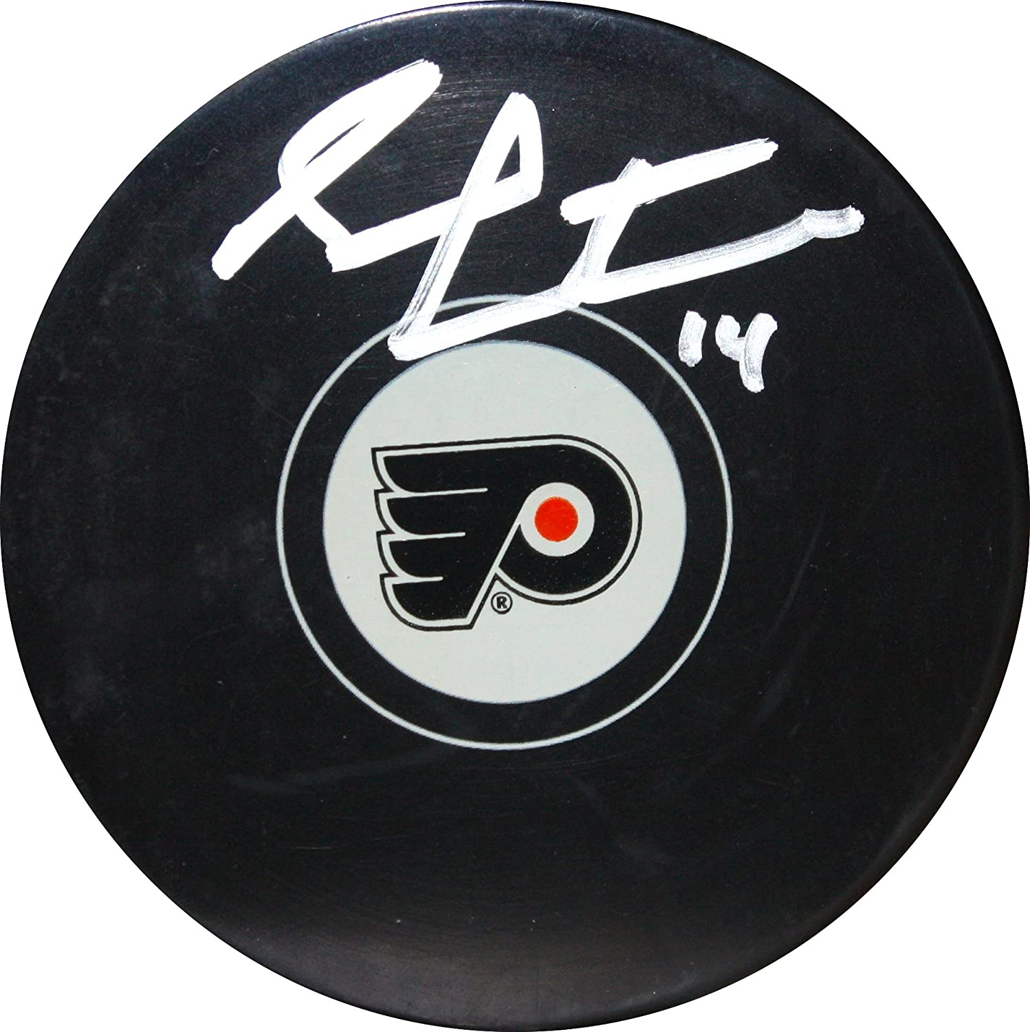 Flyers Sean Couturier Autographed Hockey Puck