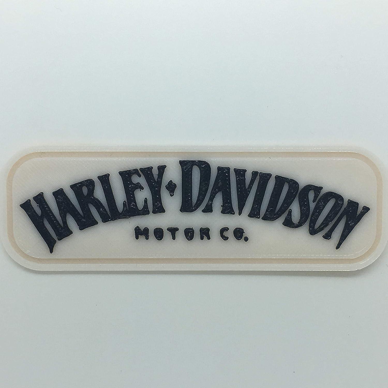 Parche Parche Logo Flexible Impreso 3D, cucibile, Adhesiva, magnética, Harley Davidson – Dim 9,7 x 3,2 cm – réplica