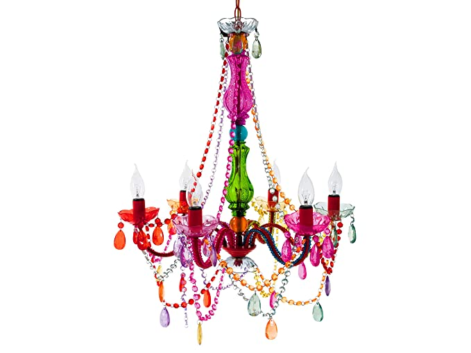 Gypsy Chandelier Pendant Light Multi Coloured Large
