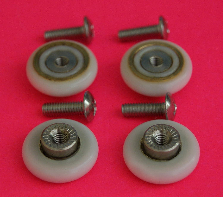 4 X Shower Door Rollers Runnerswheels 19mm Wheel Diameter L017