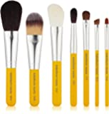 Bdellium Tools Professional Makeup Travel Line Brush Set with Roll-Up Pouch