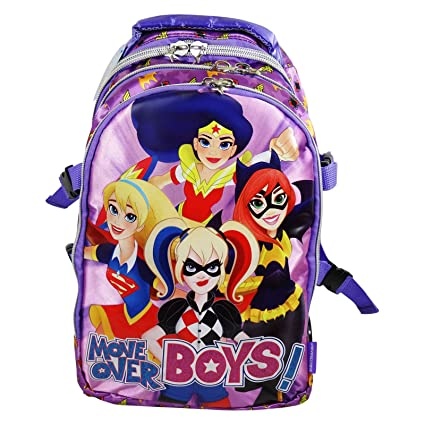 DC Comics Super Hero Girls Mochila Convertible en Trolley con Ruedas Bolso Escolar Nina Chicas Moda