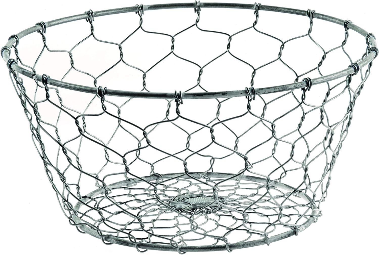 Amazon Com Small Round Chicken Wire Basket For Farmhouse Decor Home Kitchen