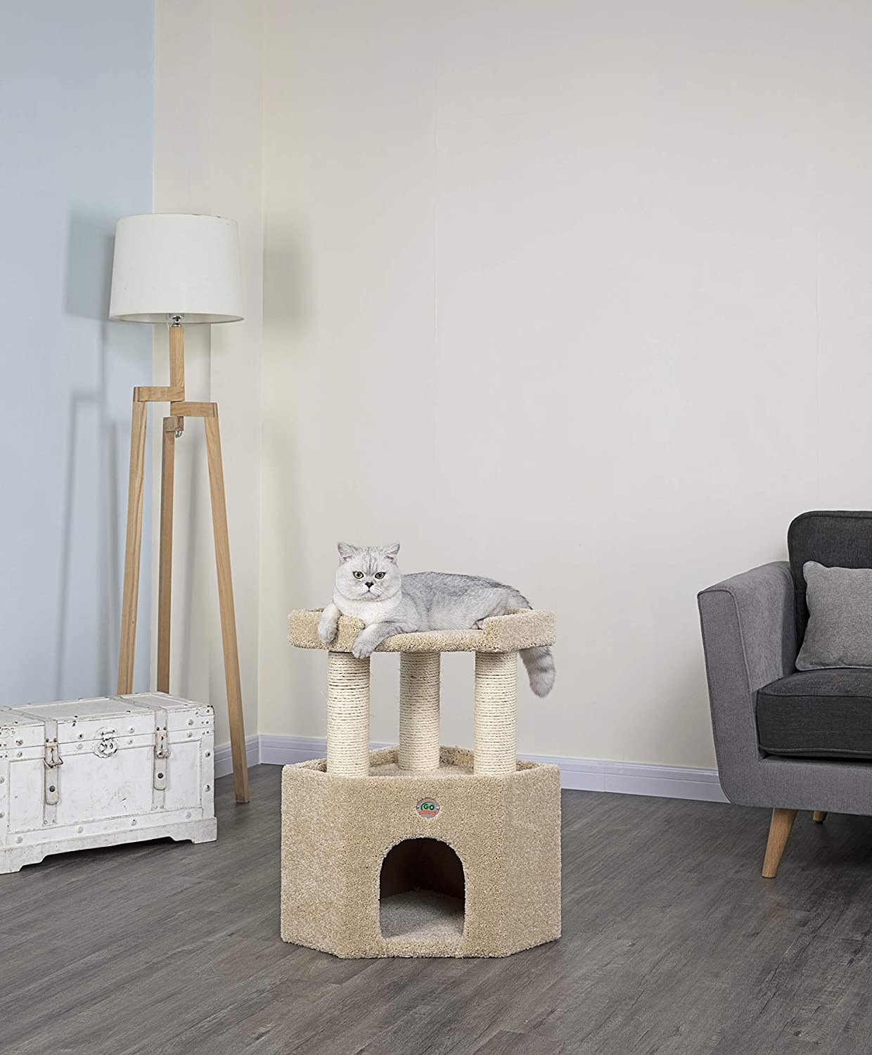 Go Pet Club Premium Carpeted Cat Tree