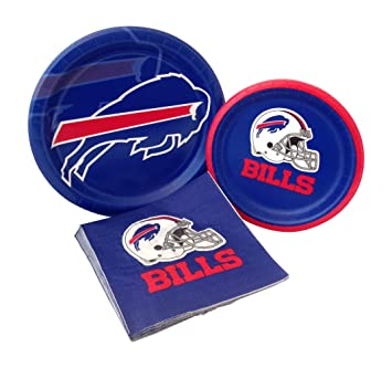 Buffalo Bills Football Party Supply Pack! Bundle Includes Paper Plates u0026 Napkins for 8 Guests  sc 1 st  Amazon.com & Amazon.com: Buffalo Bills Football Party Supply Pack! Bundle ...
