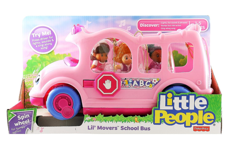 Little People - Little Movers Pink School Bus: Amazon.co.uk: Toys ...