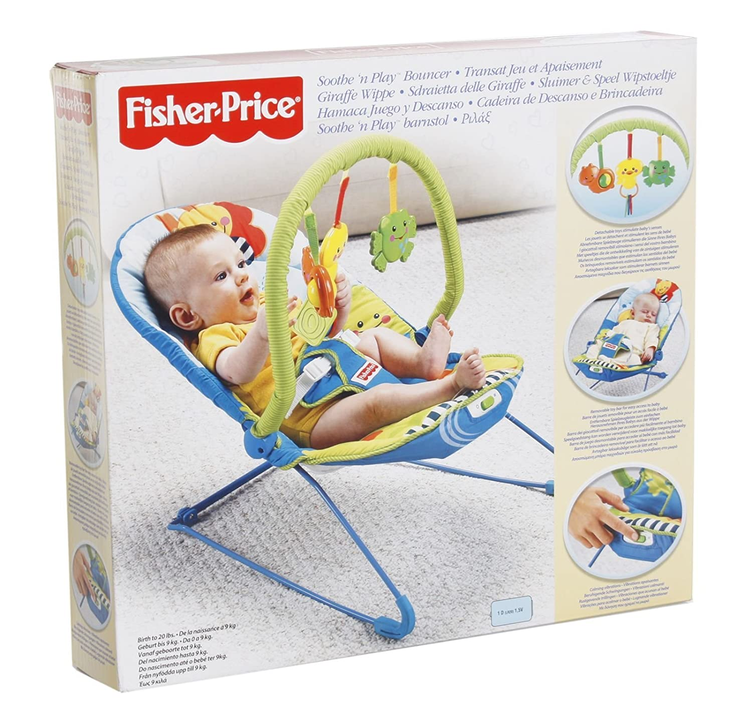 b169811f9 Fisher Price Soothe  N Play Bouncer  Amazon.in  Baby