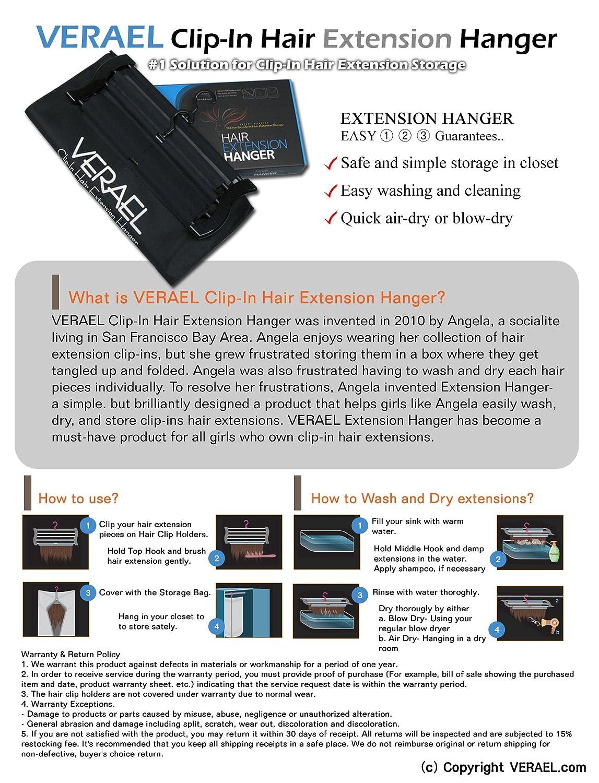 Amazon.com : VERAEL Hair Extension Hanger : Hair Extension Case : Beauty