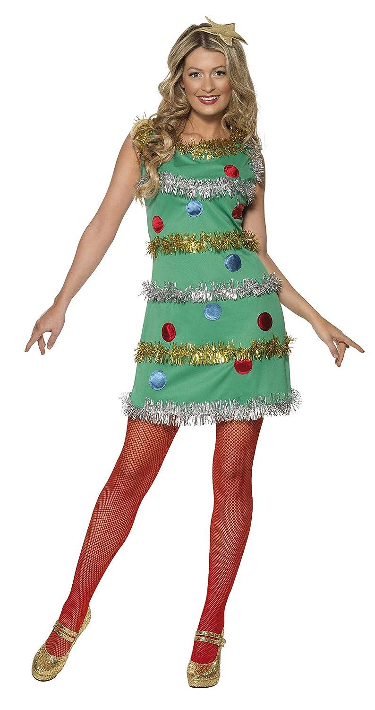 Smiffys-36992M Disfraz de árbol de Navidad, con Vestido y Diadema ...