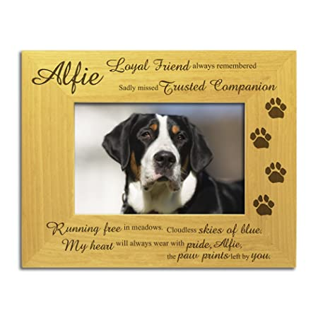 Dog Memorial Bereavement Photo Frame, Personalised Engraved ...